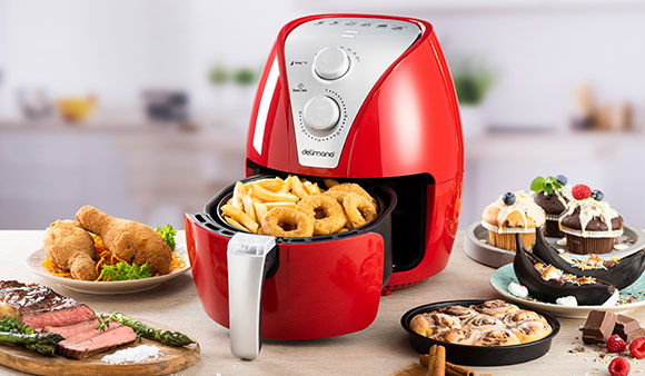 Delimano Air Fryer Red